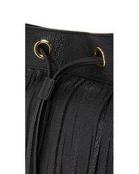 MILLY - Black Essex Fringe Hobo Bag - Lyst