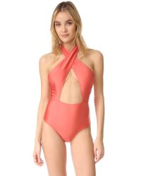 MINKPINK | Multicolor Just Peachy Ruched One Piece | Lyst