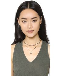 Mishky - Metallic Protection Eye Necklace - Lyst