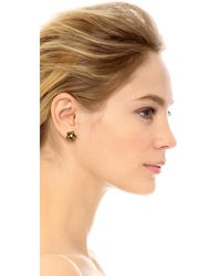 Marc Jacobs - Metallic Flower Stud Earrings - Lyst