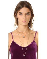 Marc Jacobs - Blue Pave Twisted Pendant Necklace - Lyst