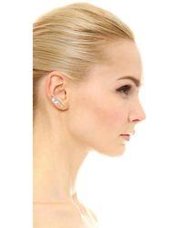 Marc Jacobs - Metallic Strass Safety Pin Ear Crawler - Lyst