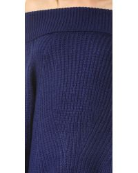 MLM Label - Blue Off Shoulder Sweater Dress - Lyst