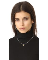 Maya Magal - Metallic Triangle Charm Necklace - Lyst