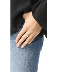 Maya Magal - Metallic Parallel Midi Ring - Lyst
