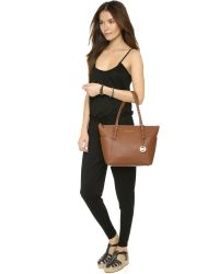 MICHAEL Michael Kors - Brown Jet Set Top Zip Tote - Lyst