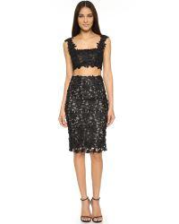 Monique Lhuillier - Black Pencil Skirt - Lyst