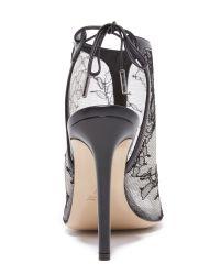 Monique Lhuillier - Natural Felicity Lace Heels - Lyst