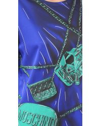 Moschino - Blue Short Sleeve Dress - Lyst