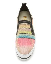 MSGM - Multicolor Slip On Wedge Sneakers - Lyst