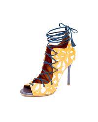 Malone Souliers - Blue Savannah Lace Up Sandals - Lyst