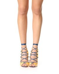 Malone Souliers - Blue Savannah Lace Up Sandals - Lyst