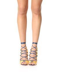Malone Souliers | Blue Savannah Lace Up Sandals | Lyst