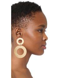 Modern Weaving - Multicolor Heavy Donut Stack Earrings - Lyst