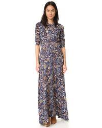 Re:named | Blue Little Blooms Maxi Dress | Lyst