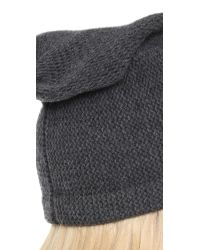 1717 Olive | Gray Purl Knit Slouch Beanie Hat | Lyst
