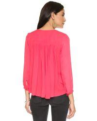 Parker - Pink Safara Blouse - Lyst