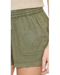 PAIGE - Green Tatum Shorts - Lyst