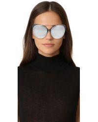 3.1 Phillip Lim   Metallic Cat Aviator Mirrored Sunglasses   Lyst