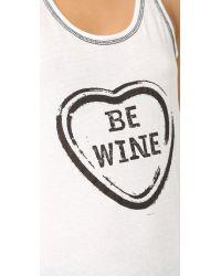 Pj Salvage - White Wine Is My Valentine Tank - Lyst