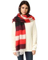 Rag & Bone   Multicolor Brushed Blanket Stripe Scarf   Lyst