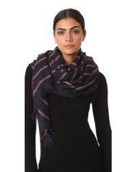 Rag & Bone | Blue Rowing Stripe Scarf | Lyst