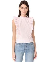 Rebecca Taylor | Pink Sleeveless Pop Pleat Top | Lyst