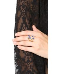 Rebecca Minkoff - Blue Multi Stone Wrap Ring - Lyst