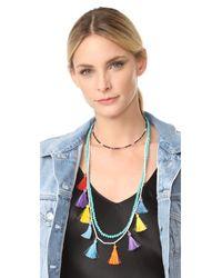 Rebecca Minkoff - Blue Sofia Tassel Layering Necklace - Lyst