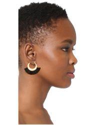 Rebecca Minkoff - Multicolor Palm Tassel Hoop Earrings - Lyst