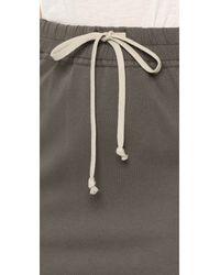 DRKSHDW by Rick Owens Gray Drawstring Bucket Skirt
