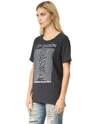 R13 - Black Joy Division Rosie Cotton-Blend T-Shirt - Lyst