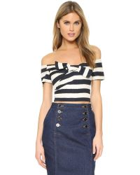 Saloni - Blue Carrie Top - Lyst