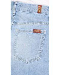 7 For All Mankind - Blue Utility Pocket Miniskirt - Lyst