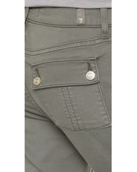 7 For All Mankind - Natural Military Skinny Pants - Lyst