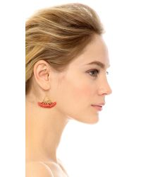 Shashi | Red Lilu Earrings | Lyst