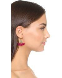 Shashi - Pink Lilu Magenta Earrings - Lyst