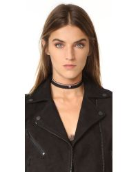 Shashi - Red Piper Choker Necklace - Lyst