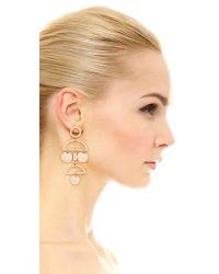 Shashi - Metallic Alicica Earrings - Lyst
