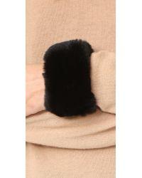 SOIA & KYO - Black Kyrie Fur Bracelet - Lyst