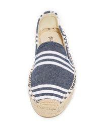 Soludos - Blue Striped Platform Smoking Slippers - Lyst