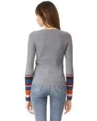 Sonia by Sonia Rykiel - Trompe L'oeil Multicolored Sleeve Sweater - Lyst