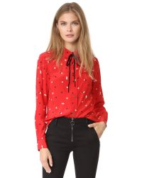 Sonia by Sonia Rykiel | Red Collar Blouse | Lyst
