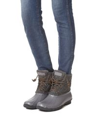 Sperry Top-Sider - Gray Saltwater Quilted Wool Booties - Lyst