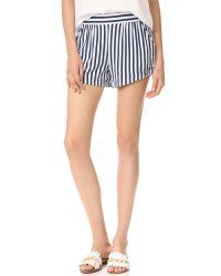 Splendid | Blue Boardwalk Stripe Shorts | Lyst