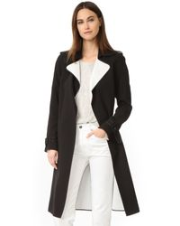 Theory | White Laurelwood Coat | Lyst