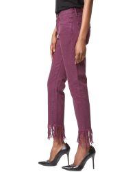 3x1 - Multicolor Wm3 Crop Fringe Jeans - Lyst