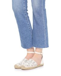 Tory Burch - White Roselle Leather Espadrilles - Lyst