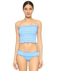 Tory Burch - Blue Costa Hipster Bikini Bottoms - Lyst