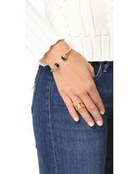 Tory Burch - Multicolor Logo Bead Hinge Bracelet - Lyst
